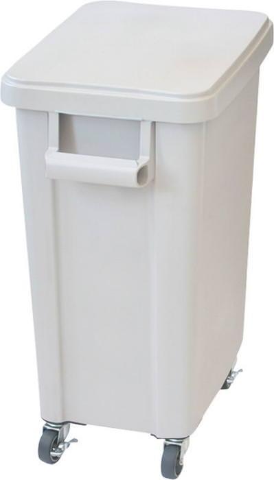 15%OFFクーポン有 厨房用キャスターペール プラスチック製 排水栓付 70L グレー 国産 日本製