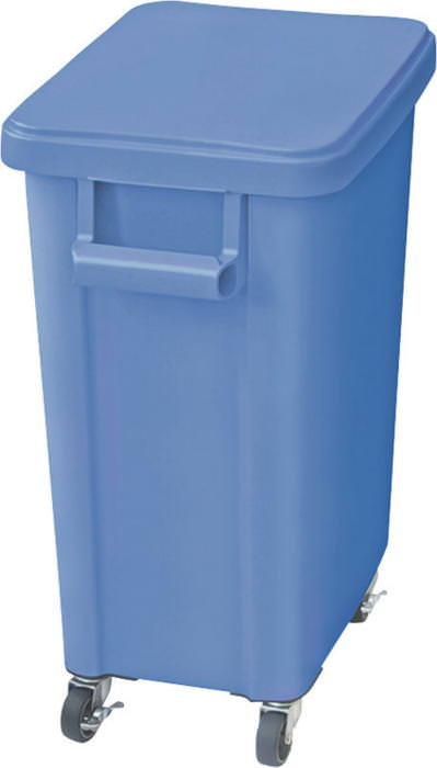 厨房用キャスターペール プラスチック製 排水栓付 70L ブルー 国産 日本製