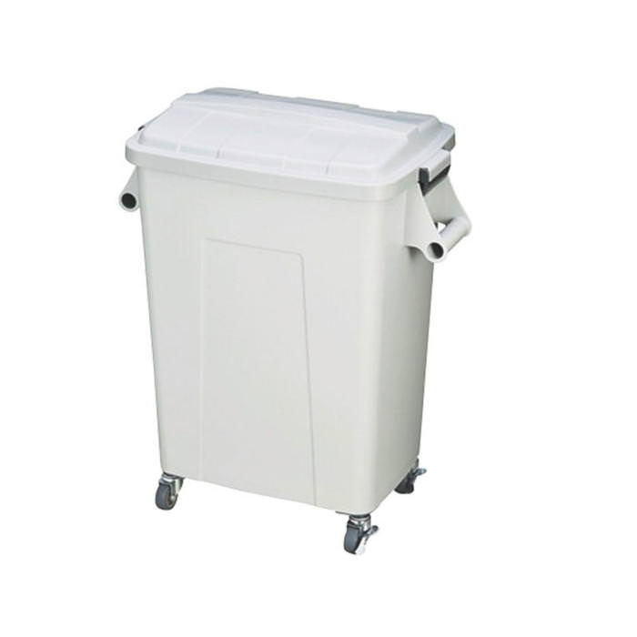 ダストペール プラスチック製 キャスター付 トンボ厨房ダストペール 70型 グレー 蓋付 国産 日本製