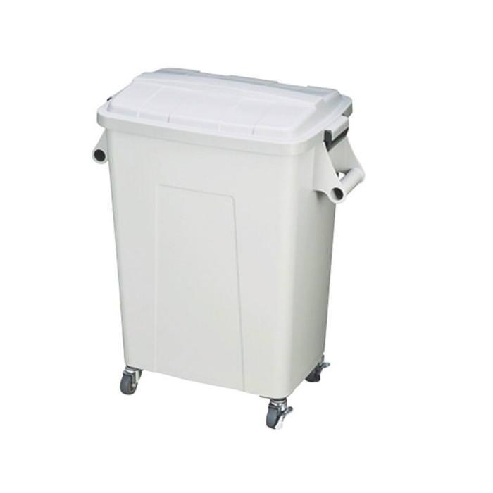 ダストペール プラスチック製 キャスター付 トンボ厨房ダストペール 45型 グレー 蓋付 国産 日本製