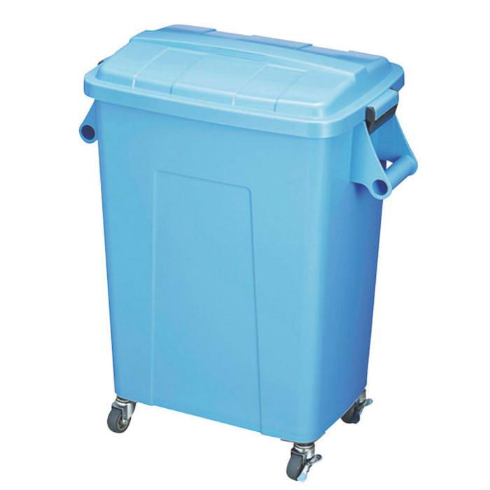 ダストペール プラスチック製 キャスター付 トンボ厨房ダストペール 45型 ブルー 蓋付 国産 日本製