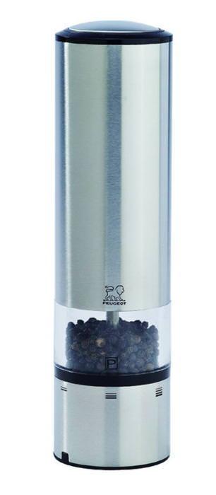 【お買い物マラソン クーポン付】 フランス製 塩 胡椒 保存容器 プジョー社製 電動ペパーミル Φ52mm プロ仕様 業務用 可