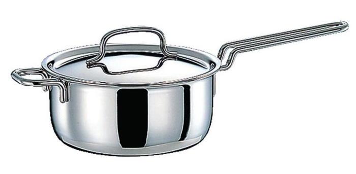 鍋 ステンレス多層鍋 ジオ・プロダクト IH 対応 余熱調理 無水調理 片手鍋 20cm 国産 日本製