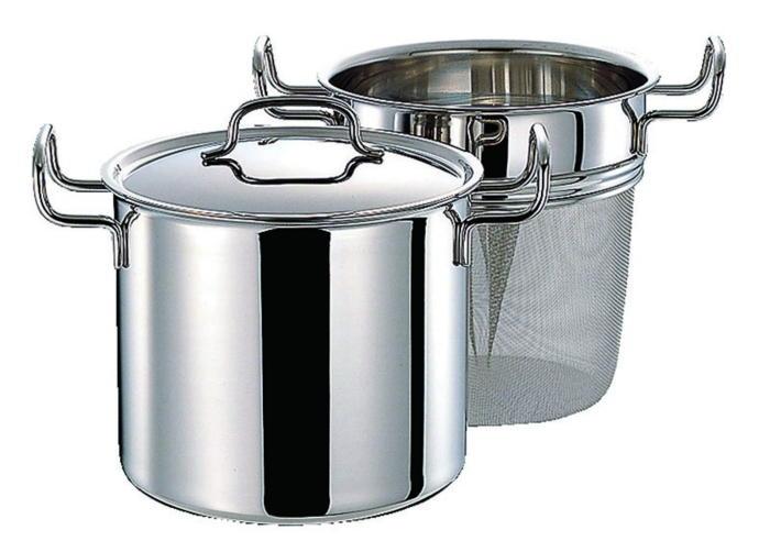 鍋 ステンレス多層鍋 ジオ・プロダクト IH 対応 余熱調理 無水調理 両手鍋 パスタポット 21cm 国産 日本製