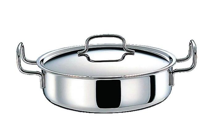 鍋 ステンレス多層鍋 ジオ・プロダクト IH 対応 余熱調理 無水調理 両手鍋 浅型 22cm 国産 日本製