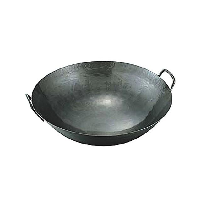 【15%OFFクーポン有】 中華 鍋 | 日本製 ・ 国産 | 匠の技 プロ仕様 鉄 打出 両手 中華鍋 (取手溶接) | 48cm | 鉄分 補給
