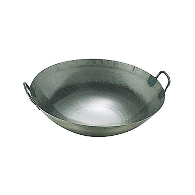 中華 鍋   日本製 ・ 国産   匠の技 プロ仕様 鉄 打出 広東鍋   42cm   鉄分 補給