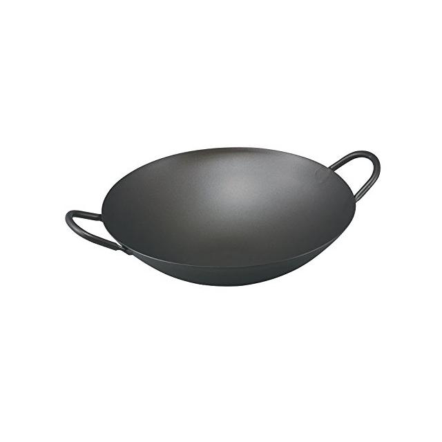 日本製|高品質 |高耐久|業務用としても使用可|中華鍋 中華 鍋 | 日本製 ・ 国産 | 匠の技 プロ仕様 純 チタン 共柄 中華鍋 | 33cm | 軽くて錆びない