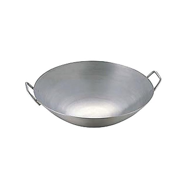 中華 鍋 | 日本製 ・ 国産 | 匠の技 プロ仕様 極厚 チタン 両手 中華鍋 | 42cm | 板厚 極厚の2.5mm | ハイカロリーバーナー対応