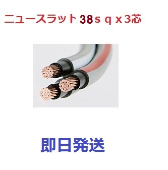 即日発送 10m ニュースラットケーブル 38sq×3芯 (38mm 3c) タツタ電線