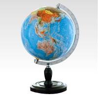 ★ルーペ プレゼント中!★ベーシック 地球儀/クツワ GL261 学習向