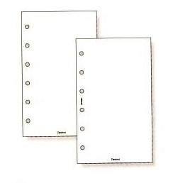 System Handbook mini 6 hole size value refills (white)