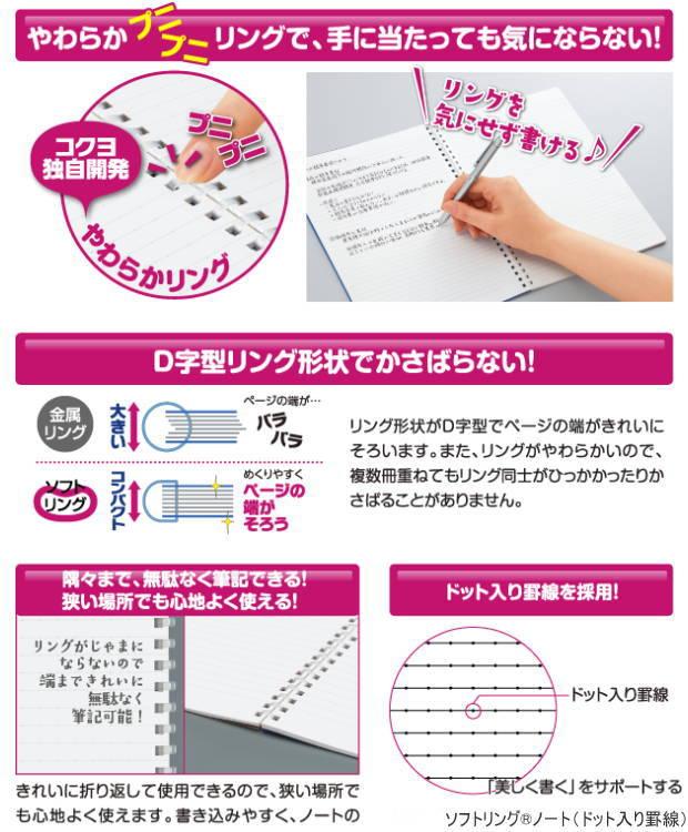 采用国誉软件环笔记本A5以及稻草或者环的环笔记本