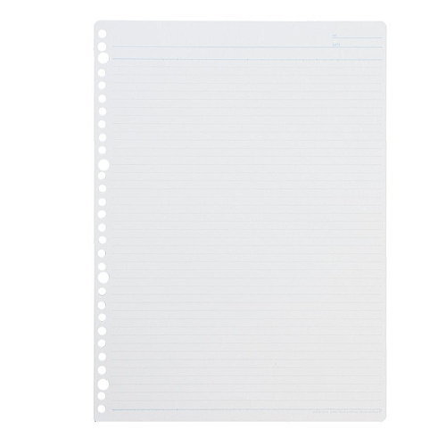 30 loose-leaf notebook A4 hole side ruled line 6mm that it is easy to write
