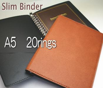 ファイルノート 海外限定 ルーズリーフファイル 手帳 20穴スリムバインダー A5 合皮 早割クーポン リングファイル 革製