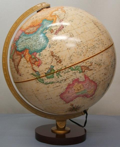 ★ルーペ プレゼント中!★リプルーグル パノラマ・アンティーク型 地球儀/照明付 Replogle 83572