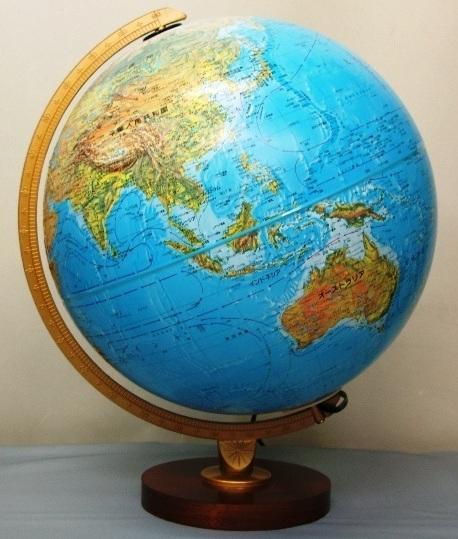 ★ルーペ プレゼント中!★リプルーグル リビングストン型 地球儀(日本語版)/照明付・山岳隆起タイプ/Replogle 86578