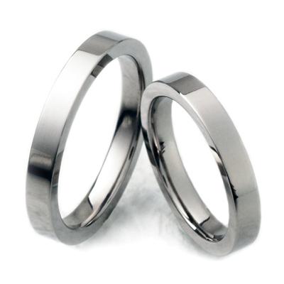 チタンリング、コンピューター刻印無料、2本セットノンアレルギー、ペアマリッジリング、結婚指輪、自社製作でカスタム可、アフターケアも安心!TIRF03P