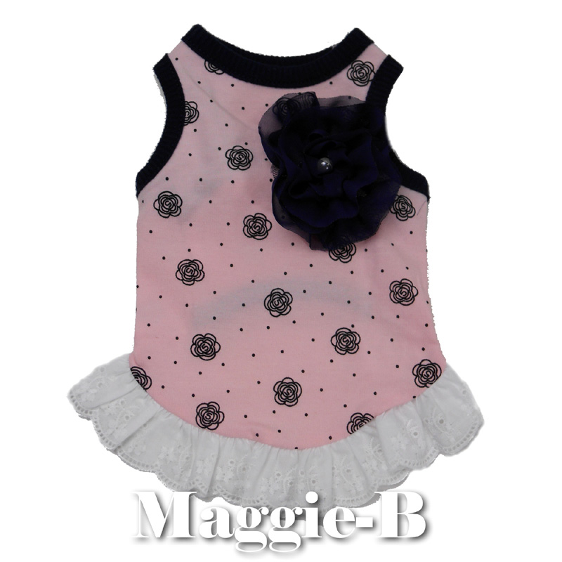 ad1003ad0de0e Pet supplies dog dog pet dog dog clothes fake clothes small dogs summer  Docware doc were dog-Chan dress with Ruffles floral one piece pink dog for dogs  pet ...