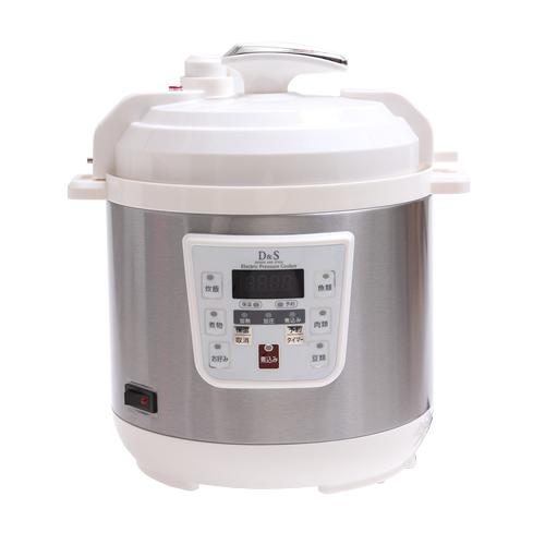 絶賛TV放映中! D&Sマイコン電気圧力鍋 2.5L ほったらかしで一品完成 予約タイマー 保温機能 炊飯 圧力鍋 簡単