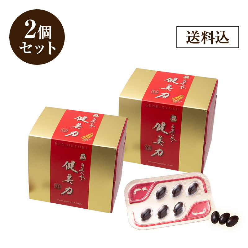 高濃度紅参サプリメント 正官庄 高麗人参 健美力 2箱セット(60粒入り×2箱)