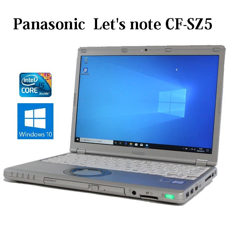 【送料無料】Panasonic Let's note CF-SZ5 CF-SZ5GDDLC パナソニック【Core i3/4GB/320GB/12.1型/DVDスーパーマルチ/Windows10/無線LAN/Webカメラ/Bluetooth】【中古】【レッツノート】【中古パソコン】【ノートパソコン】