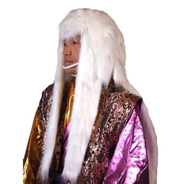 獅子毛 かつら 白【獅子 祭頭祭 踊り カツラ ウィッグ 変装 被り物 縁起物 正月 歌舞伎 連獅子 ホワイト グッズ】マジックナイト OS22214