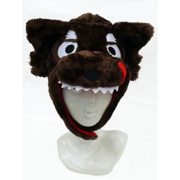 オオカミ 着ぐるみキャップ【オオカミ 狼 ウルフ かぶりもの 動物 帽子 仮装 変装 ハロウィン】定形外発送可 1p350円 2p510円 マジックナイト SZ2657