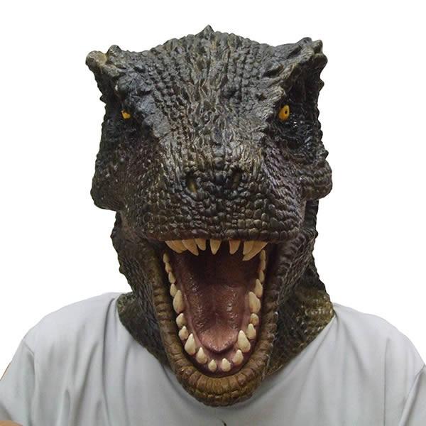 T-REX マスク ティラノサウルス【恐竜 ラバーマスク かぶりもの 恐竜グッズ 恐竜マスク 被り物 変装 コスプレ ゴムマスク】マジックナイト OS56127