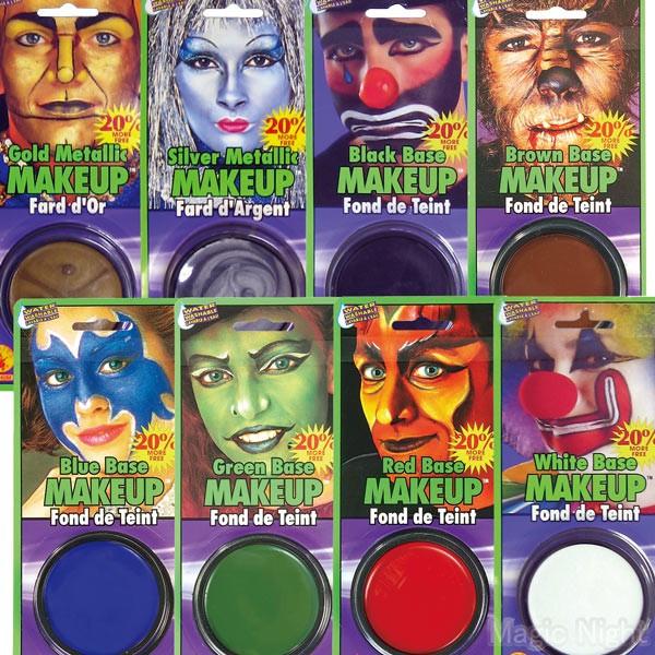 フェイスペイント ボディーペイント用のメイククリームです 成分は油性で 顔や体にベースカラーとして広く塗ることができます 価格もとってもリーズナブルで人気の商品です カラー メイクアップ クリーム 全8色 ハロウィン 仮装用 マジックナイト 予約 1p220円 仮装 メーキャップ 定形外発送可 2p300円 ボディペイント 塗料 RJ1816 変装 開店記念セール メークアップ