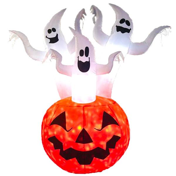 ゴーストフレイム エアーディスプレイ【ハロウィン 飾り 置物 大きい置き物 かぼちゃ カボチャ ゴースト お化け エアブロー エアバルーン】送料無料 マジックナイト YI1455