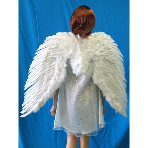 スプレッドウィング ホワイト 3L【本物の羽根を使用した天使の翼 エンジェル 白】マジックナイト PA170004