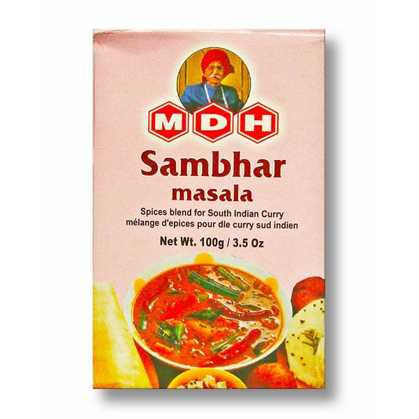 〈インド食材 インディアンベジタリアン〉本格ミックススパイス MDH サンバルマサラ 100g 営業 Masala Sambar 100%品質保証! ポスト投函便