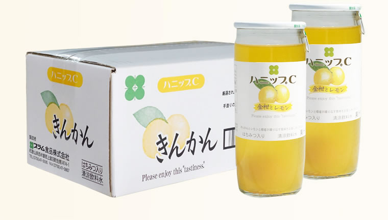 Cooling drinks (entering *15 200 g) *3 case set with ハニップ C kumquat and  lemon honey