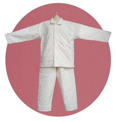 ガーゼと脱脂綿の快適寝具 パシーマ こどもパジャマ130(長袖・きなり色)