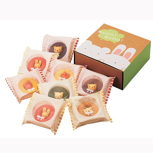 (5月14日以降の出荷となります) (送料込み) カリーノ アニマルドーナツ 8個 CAD-20 (-98036-04-) (個別送料込み価格) (t3)   内祝い ギフト お菓子 人気 出産内祝い 結婚内祝い 快気祝い