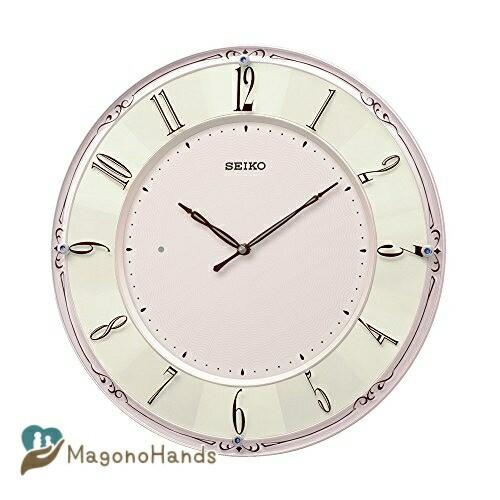 セイコークロック 掛け時計 開店記念セール ピンクパール 光沢 KX504P 直径35.1×3.0cm 直径35.1 チープ