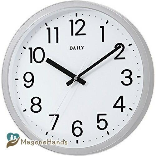 お買得 リズム時計工業 Rhythm 掛け時計 10%OFF フラットフェイスD フラットフェイスDN ф33.1×4.3cm DAILY シルバー 4KGA06DN19