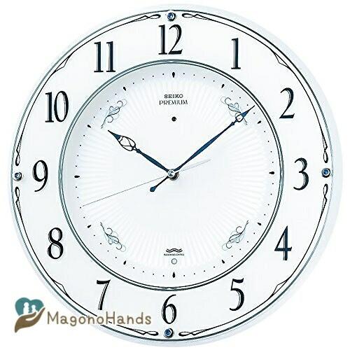セイコー クロック セール特別価格 掛け時計 電波 アナログ 木枠 パー SEIKO パール LS230W 期間限定 白