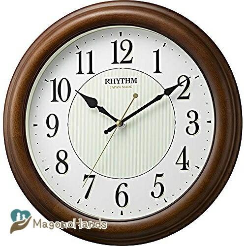 掛け時計 連続秒針 蓄光 限定タイムセール オルロージュM802 リ リズム時計 8MG802SR06 在庫限り ブラウン
