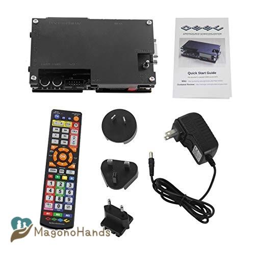 HDMI to Scart コンバータ ビデオオーディオアダ HDMI to Scart コンバータ ビデオオーディオアダプタボックス PC上のビデオスケーラ サポート古いゲーム機 sfc/md/ps/ss / ps2 / xbox/wii 3.5 mm AUXジャックおよび同軸オーディオ出力用 10