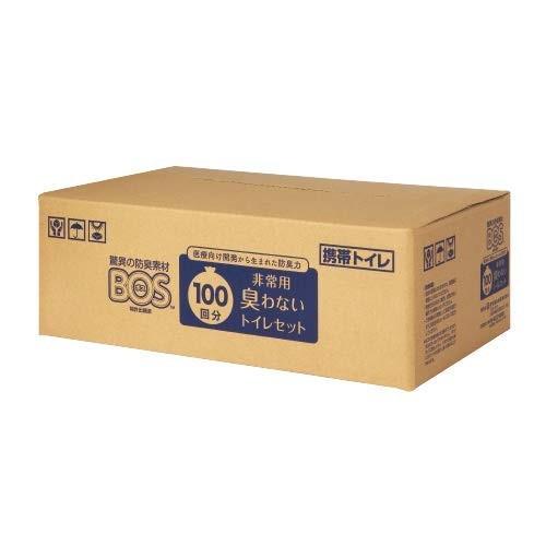 驚異の防臭袋 BOS ボス 非常用 Bセット 100回分 販売期間 海外 限定のお得なタイムセール セット 簡易トイレ