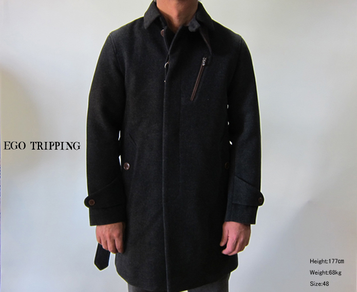 《 SALE 》EGO TRIPPING(エゴトリッピング・メンズ)  STAND FALL COLLAR COAT