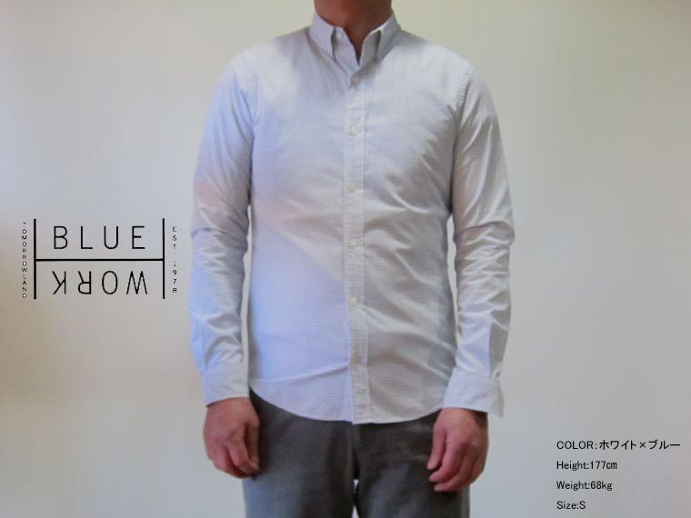 TOMORROWLAND/Blue Work(メンズ トゥモローランド) グラフチェック ホックダウンシャツ