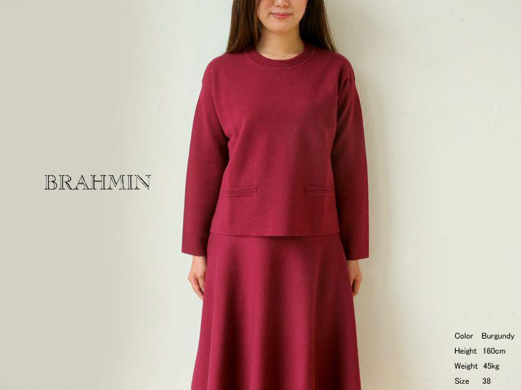 《 SALE 》Brahmin (ブラーミン) 16Gミラノリブ クルーネックP/O