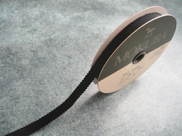 花材 高価値 木馬リボン MOKUBAグログランリボン No.8950 爆売り 1巻 10mm幅×10M ブラック
