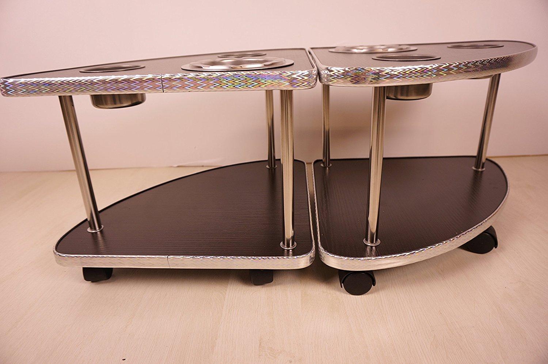 全自動麻雀卓に最適 座卓専用サイドテーブル 2脚セット 灰皿・ドリンクホルダー・起家・焼き鳥マーク付き MJ-REVO シリーズ