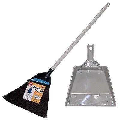 掃除道具 掃除用品 箒 ほーき ホーキ 黒シダホーキ ほうき 驚きの値段で ネコの手 チリトリ付き 期間限定特価品