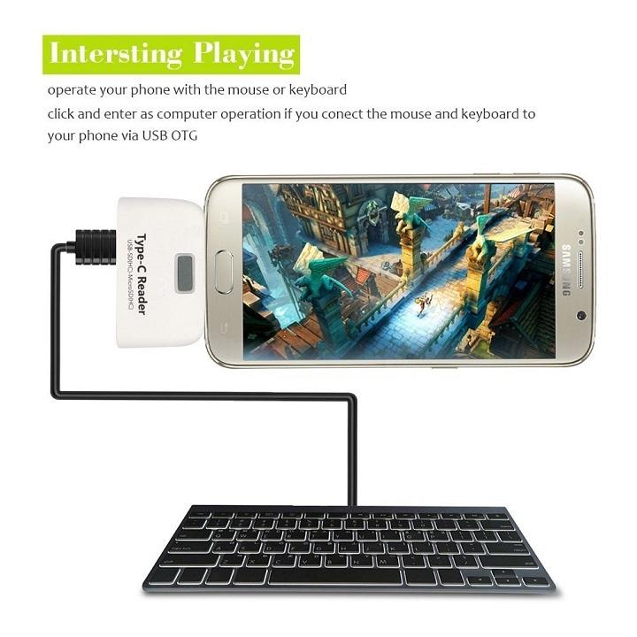 【マーサ・リンク】 USB Type-C to USB+SD(HC)/TF/MicroSD(HC) カードリーダー OTGアダプタ USB C Card Reader Connection Kit For Type-C SmartPhone & PC For Macbook 12 インチ、ChromeBook Pixel、Nexus 6P、Nexus 5X、Pixel C、 Lumia 950/ 950XL、Nokia N1