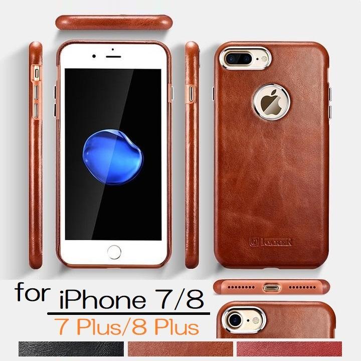 送料無料【正規品】ICARERiPhone7/8/iPhone7Plus/8Plus4.7インチ/5.5インチ選択本革トランスフォーマ—ズビンテージレザーバックカバー保護ケースワイヤレス充電対応(ブラウン、ブラック、レッド)3カラー選択